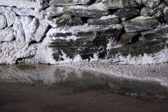 Озеро солевой рудник стоковые фотографии rf