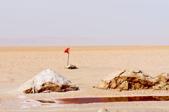 Озеро соли Chott el-Jerid в Тунисе Стоковое фото RF