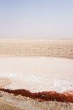 Озеро соли Chott el-Jerid в Тунисе Стоковое Изображение RF