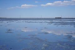 Озеро сол, соль, озеро Baskunchak в России, стоковые фотографии rf