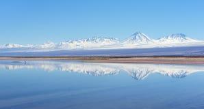 Озеро сол в пустыне Atacama Стоковое Изображение RF