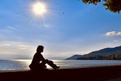 озеро солнечное Стоковая Фотография RF