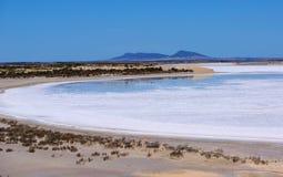 Озеро сол полуострова Eyre Стоковое Фото