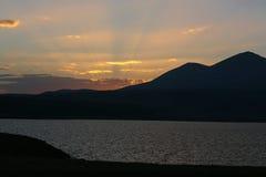 Озеро сол Paravani, Georgia Стоковое фото RF