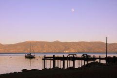 озеро сумрака Стоковое Изображение RF