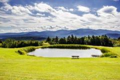 Озеро с горным видом Стоковые Изображения RF