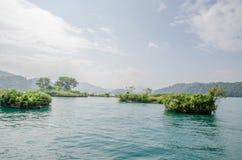 Озеро с малыми островами Стоковые Фотографии RF