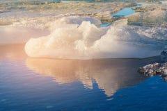 Озеро с отражением, Исландия зим естественное Стоковое Изображение