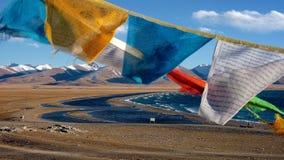 Озеро Тибет Namtso. Стоковая Фотография RF