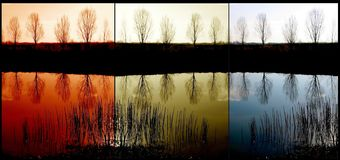 Озеро триптих Стоковое Изображение RF