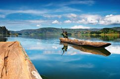 озеро Уганда bunyonyi Стоковые Фото