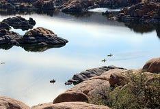 Озеро Уотсон, Prescott, Аризона Стоковое Изображение RF