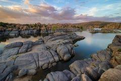 Озеро Уотсон, Prescott AZ Стоковые Фотографии RF