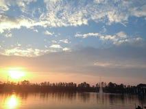 Озеро утр Стоковое Изображение