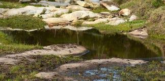 Озеро ферм Стоковая Фотография