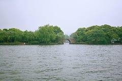 Озеро Ханчжоу западное стоковые изображения