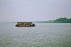 Озеро Ханчжоу западное стоковое фото rf