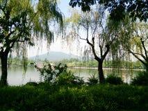 Озеро Ханчжоу западное Стоковая Фотография RF