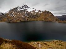 Озеро Херрис, след Routeburn, Новая Зеландия Стоковое Изображение RF