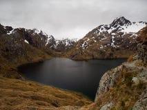 Озеро Херрис, след Routeburn, Новая Зеландия Стоковое фото RF