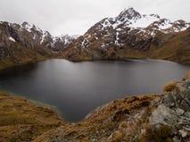 Озеро Херрис, след Routeburn, Новая Зеландия Стоковые Фото