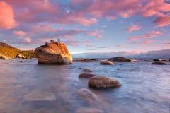 озеро хлопка конфеты бонзаев над tahoe утеса стоковое фото