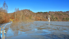 Озеро цианид на Geamana Румынии Стоковое Изображение RF