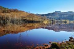 Озеро цианид на Geamana Румынии Стоковое фото RF