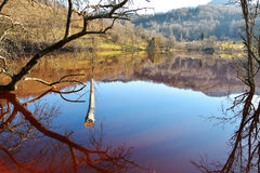 Озеро цианид на Geamana Румынии Стоковая Фотография