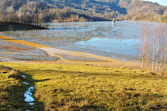 Озеро цианид на Geamana Румынии Стоковое Фото