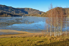 Озеро цианид на Geamana Румынии Стоковые Изображения RF
