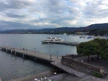Озеро Цюрих на Buerkliplatz Стоковое Изображение RF