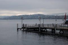 Озеро Цюрих, Switzetland, осмотр достопримечательностей Европы стоковые изображения