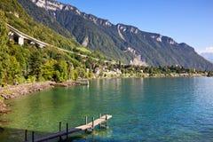 озеро Швейцария geneva Стоковые Изображения