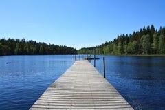озеро Швеция Стоковая Фотография