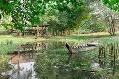 озеро шлюпки деревянное Стоковое Изображение RF