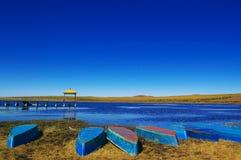 озеро шлюпок ближайше Стоковая Фотография RF