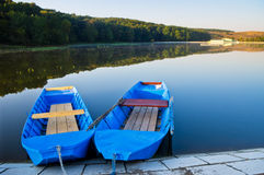 озеро шлюпок стоковое фото rf