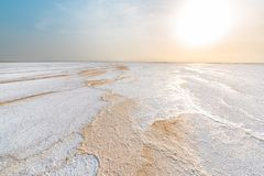 Озеро эл ишака, в депрессии Danakil стоковые фото