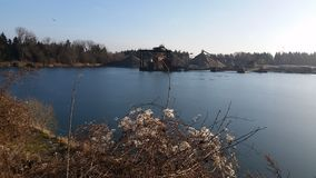 Озеро ямы гравия Стоковые Фото