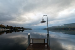 Озеро Джордж на восходе солнца Стоковое Изображение
