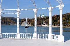 Озеро Abrau Стоковая Фотография RF