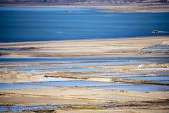Озеро Afdera или Giulietti или Egogi Afrera озера сол aka, Danakil Afar, Эфиопия Стоковые Изображения