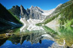 Озеро Agnes в области Lake Louise стоковое изображение