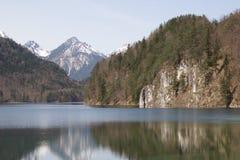 Озеро Alpsee весной Стоковое Изображение RF