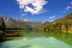 Озеро Barcis (Friuli Venezia Giulia Стоковая Фотография