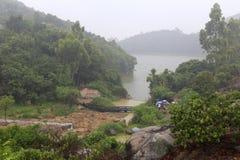 Озеро Bayberry в дожде стоковое изображение