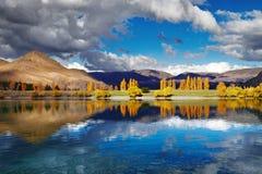 Озеро Benmore, Новая Зеландия Стоковая Фотография RF