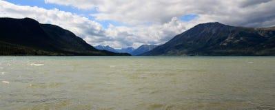 Озеро Bennett, Carcross, Юкон, Канада Стоковое Изображение