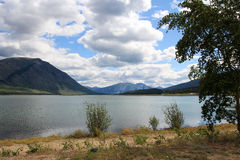 Озеро Bennett, Carcross, Юкон, Канада Стоковая Фотография RF